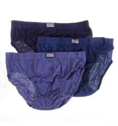Egyszínű, bevarrt gumis, pamut férfi fecske 3db/csomag (FR7022)