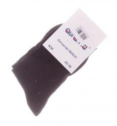 Egyszínű, orrvarrás nélküli női pamut normál zokni (N36)