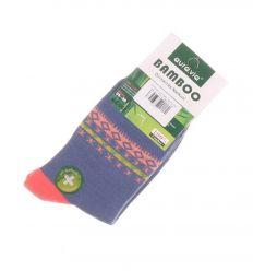 Csíkban mintás, bambuszos anyagú, női normál zokni (NZ-002)