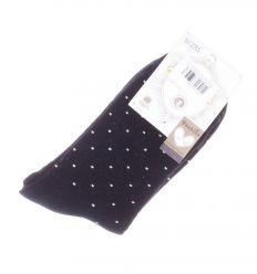 Kis pöttyös mintás, pamutos női termo vastag zokni (NV2065)
