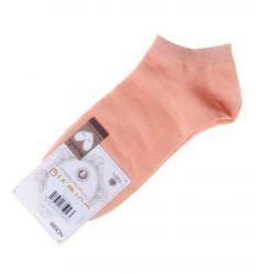 Egyszínű, orrvarrás nélküli, pamut női boka titok zokni (ND686)