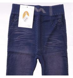 Bélelt koptatott farmeres női kamasz leggings (Gino LT-6141)