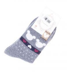 Mickey egeres, nyusziszőrös női normál zokni (NV1025)