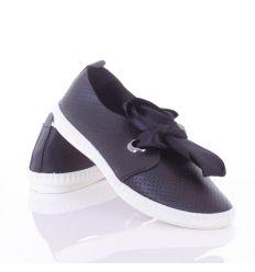 Selyem szalagos, lyukacsos, belebújós női műbőr cipő (L81638,L81639,L81640)