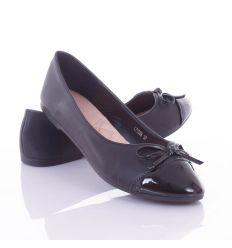 Lakkos orrú, kis masnis, műbőr női balerina cipő (L71088,L71089)