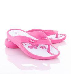 Talpán virág mintás, lábujjközös, könnyű női gumi papucs, flip-flop (L61686)
