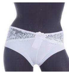 Felül csipkés, lézervágott, elasztikus női francia alsó (W8003)