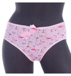 Flamingó mintás moletti, pamut alsó, bugyi (JD33)